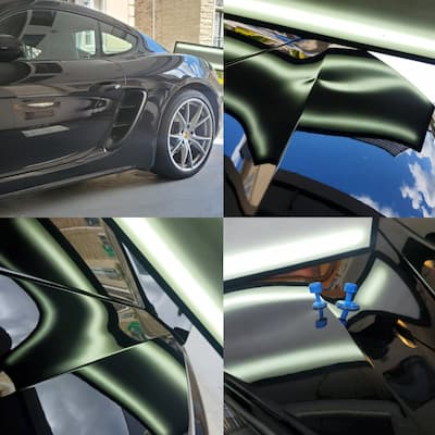 Before and after dent repair. See PDR pricing schedule or use the cost calculator for an accurate estimate