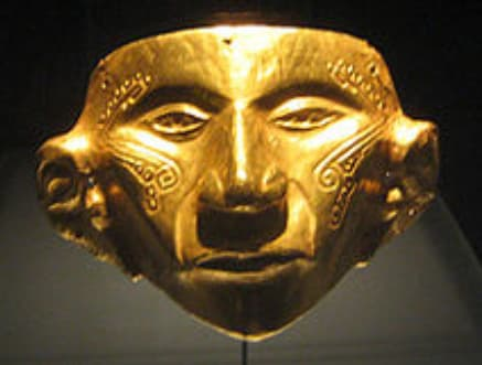 Another example of metal working on a gold mask