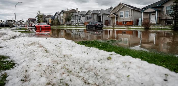 Southern Alberta neighborhood suffered enormous damage from hail